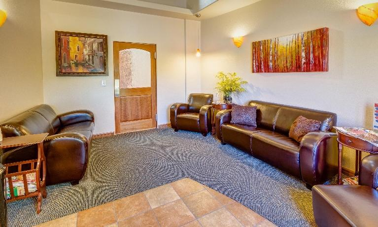 The waiting room at Springs Family Dental in Colorado Springs, CO